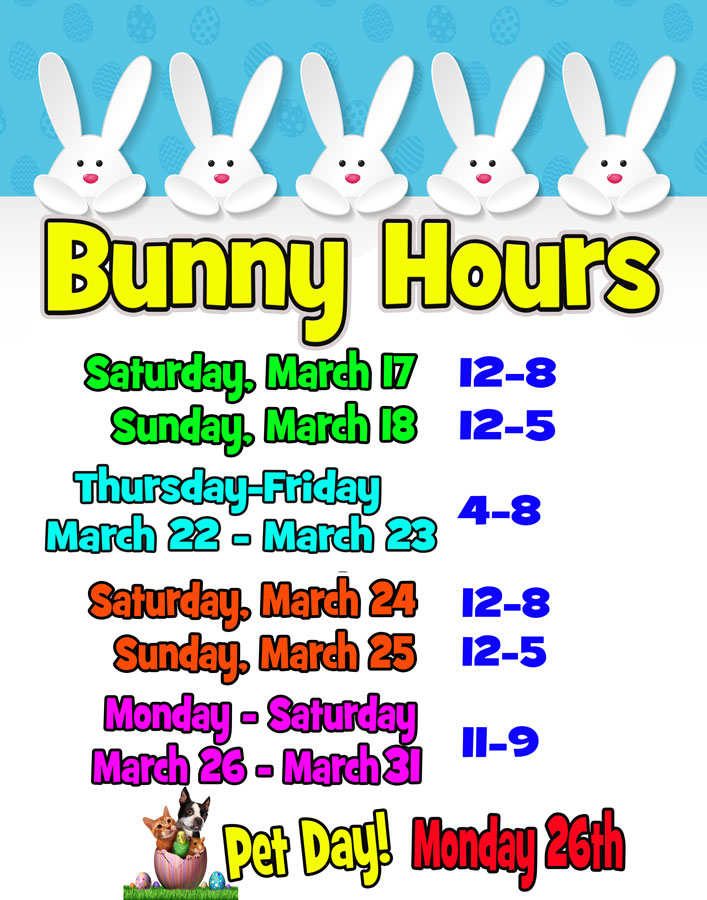 Lebanon Valley Mall | Bunny Hours